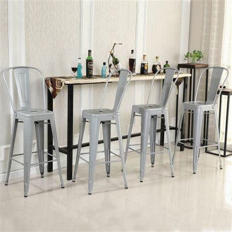 Counter Height Bar Stools Set Of 4 Set Of 4 Modern Counter Height Stools Onebigoutlet