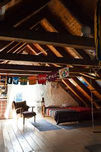 Boho in the attic interiors by color