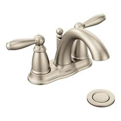moen 6610bn brantford brushed nickel two handle high arc