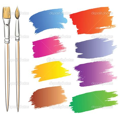 paint brush strokes vector images