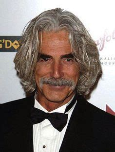 sam elliott long grey slickback hairstyle and handlebar mustache 1000 images about distinguished grey haired men on