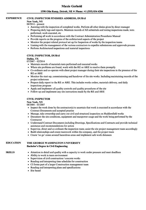 Building Inspector Resume Sles Velvet cool building inspector resume contemporary