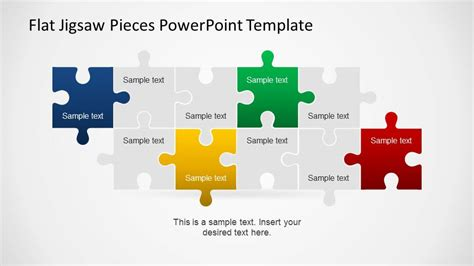Editable Flat Jigsaw Pieces Powerpoint Template Slidemodel Jigsaw Puzzle Powerpoint Template Free