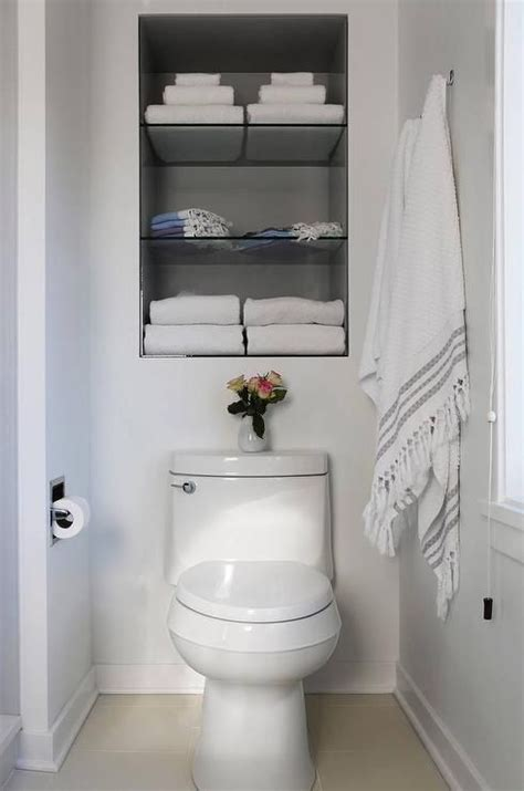 bathroom shelf ideas    organized home