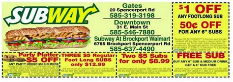 free printable subway coupons 2014 subway printable coupons february 2015