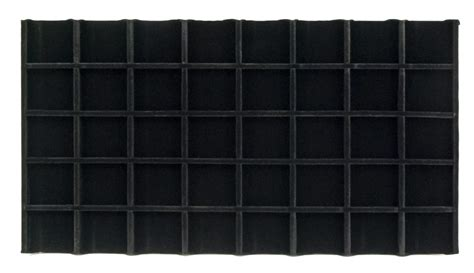 black velvet sectioned jewelry tray insert 5x8