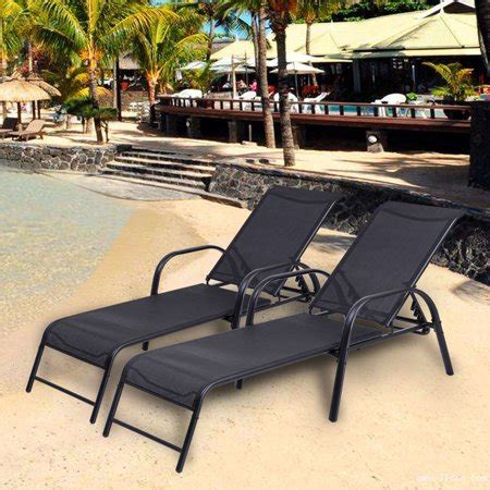 pool lounge chairs walmart costway set of 2 patio lounge chairs sling chaise lounges