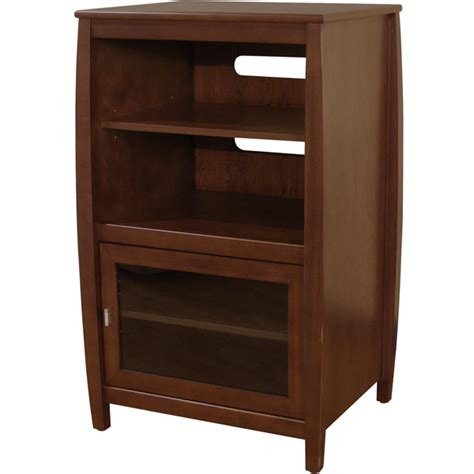 Audio Rack Cabinet by Techcraft Swh4024 Audio Side Rack Cabinet Wood Glass