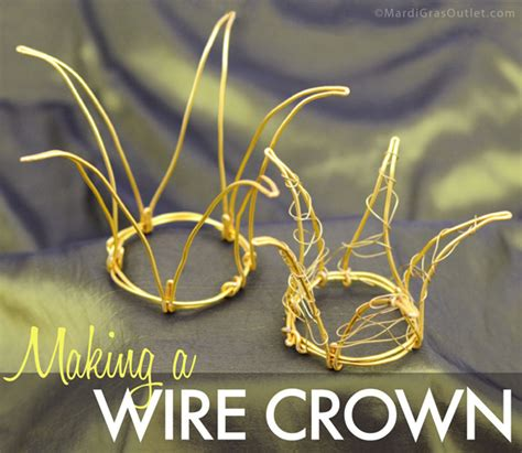 craft wire crown party ideas by mardi gras outlet whimsical wire crowns to