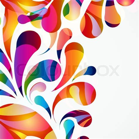 Jepitan Sirkam Color Bowknot Shape Simple Design 1 rounded colorful arc drops decorative abstract background stock vector colourbox