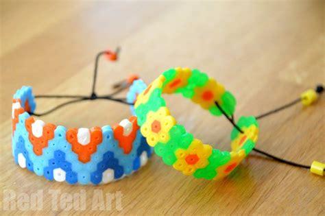 how to bead hama bead perler bead bracelets ted s