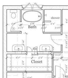 Floor Plans Bathroom by Master Bathroom Floorplans Find House Plans