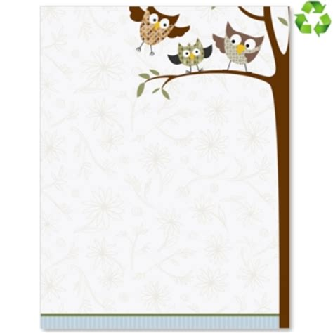 printable owl border paper 8 best images of fall printable owls border free owl