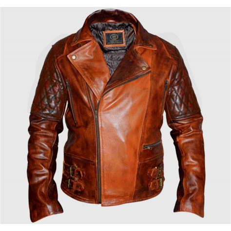 classic motorcycle jacket classic motorcycle biker brown distressed vintage