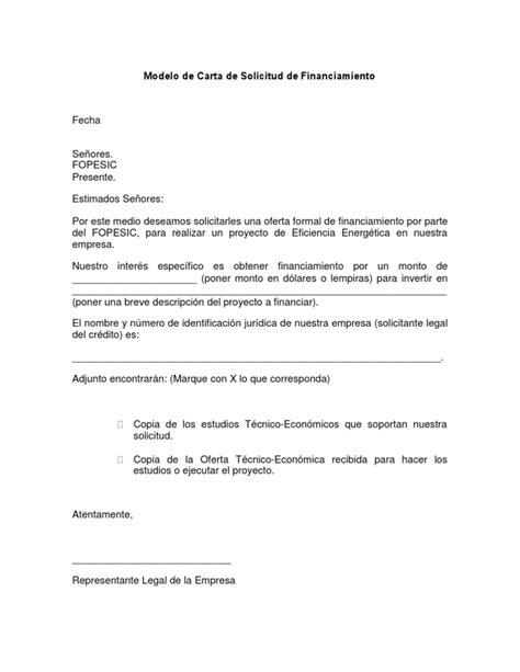 formato modelo ejemplo solicitud de adelanto de scribd 02 modelo de carta de solicitud de financiamiento