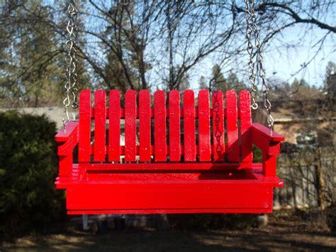 red porch swing mother s day radiant red porch swing bird feeder bird