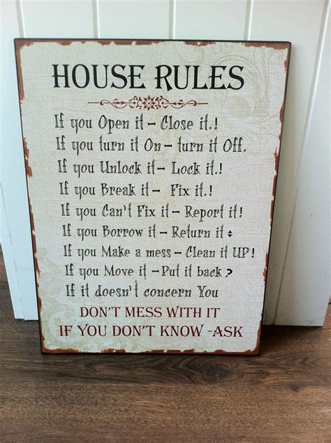 heaven sends house rules metal sign heaven sends from new vintage retro house rules metal sign family kitchen