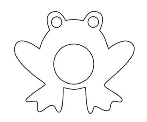 free printable frog templates frog template for clipart best