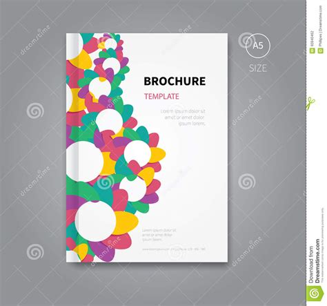 background brochure templates brochure with abstract background stock vector image