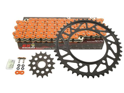 Ktm Chain And Sprockets 525 Chain Kit Superlite Rs7 Steel Sprockets With Ek Or