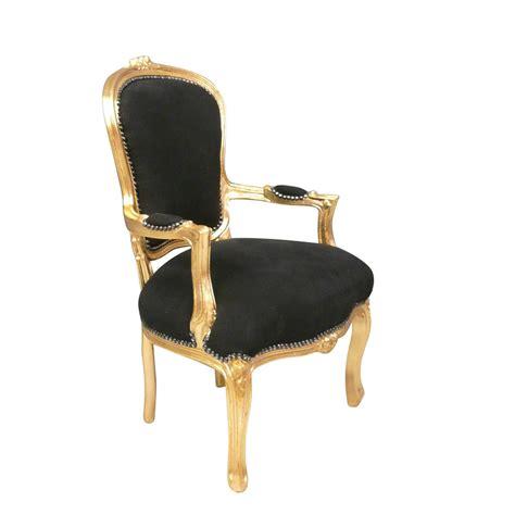 siege louis xv fauteuil louis xv noir et dor 233 fauteuil cabriolet pas cher