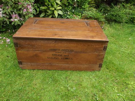 woods vintage home interiors old shipping wooden chest by woods vintage home interiors