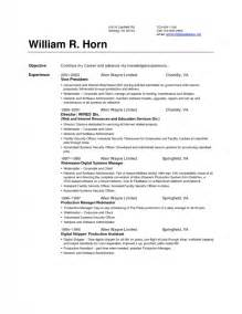 how to set up resume sles of resumes