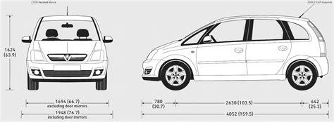 Vauxhall Meriva Length 2009 Vauxhall Meriva Minivan Blueprints Free Outlines