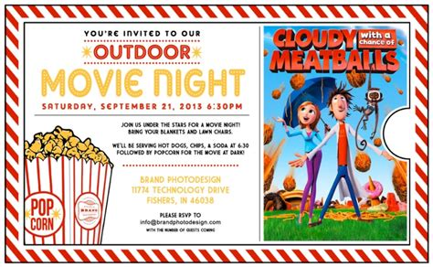 backyard movie night invitations outdoor movie night invitation template outdoor