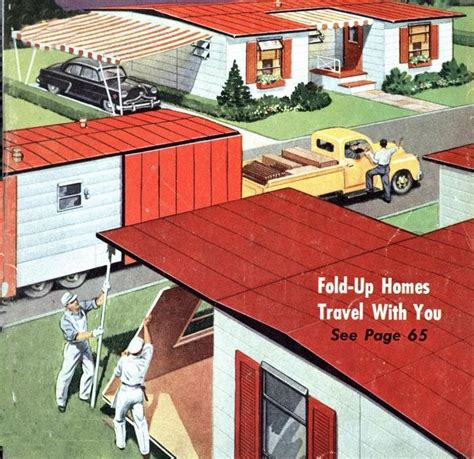 Mobile Home Interior Decorating Ideas by Fold Up Homes Of The 1950 S