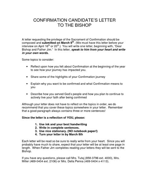 Sponsor Letter To Confirmation Candidate Best Photos Of Catholic Confirmation Letter To Candidate Catholic Confirmation Sponsor Letter