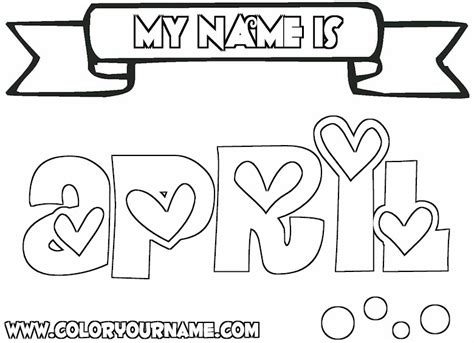 printable coloring pages awesome name april coloring page