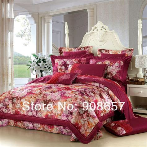 oriental comforters sets bed in a bag best oriental floral violet red luxurious bedding queen