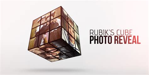 rubik opener tutorial rubik cube photo reveal by dearts videohive