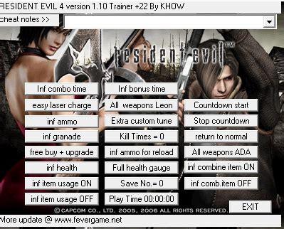 trainer resident evil 5 pc iki sang blog resident evil 4 v1 1 0 trainer 22 iki sang blog