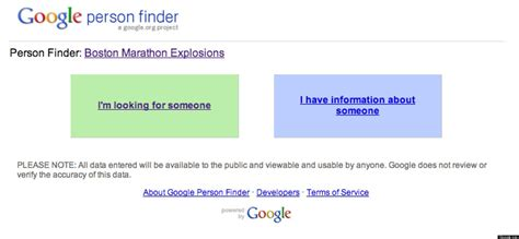 Person Lookup Person Finder Launches Following Boston Explosions Huffpost