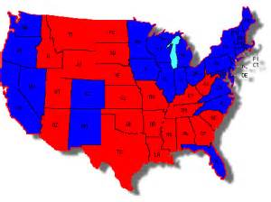 Map Of Blue And Red States by Map Of Red States Vs Blue States Pictures To Pin On Pinterest