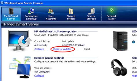 hp mediasmart server ex490 installation software