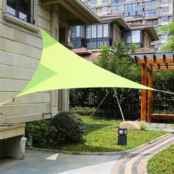patio sail sun shades lyshade 16 5 quot triangle sun shade sail canopy uv block