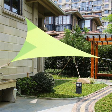 garden awnings and sails lyshade 16 5 quot triangle sun shade sail canopy uv block