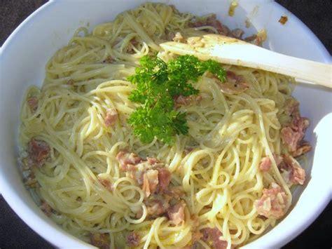 capellini pasta capellini carbonara recipe food com