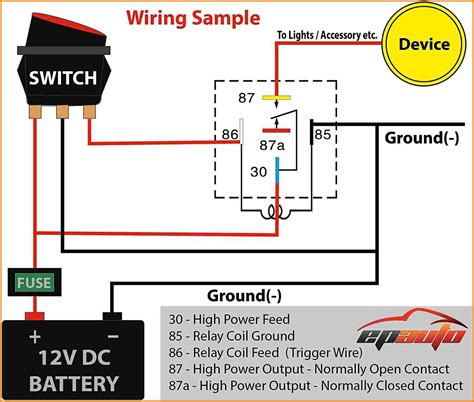 5 prong relay diagram wiring diagram for automotive relay a free