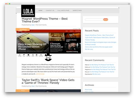 wordpress themes blog download 50 best free responsive wordpress themes 2017 colorlib