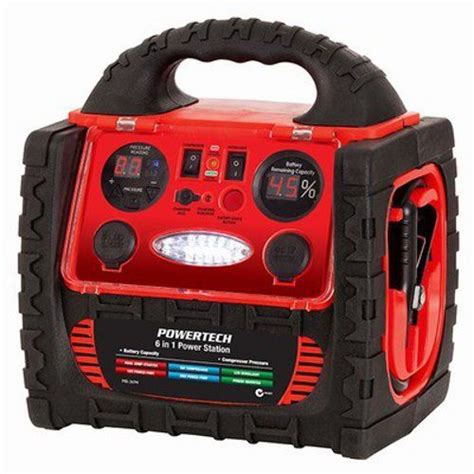 12 v premium jump starter 6 in 1 portable air compressor inverter power pack ebay
