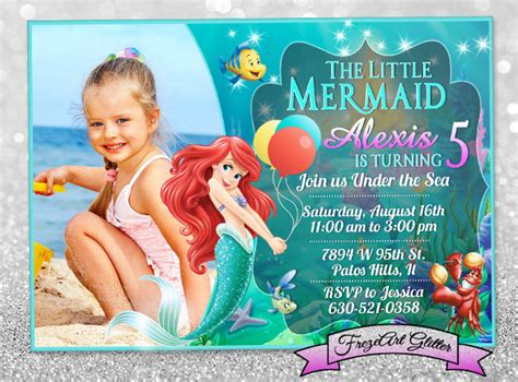 mermaid birthday card template 19 personalized birthday invitations free psd vector