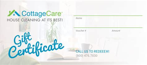 Cottage Care Cleaning by Cottagecare House Cleaning Gift Certificates 187 Cottagecare