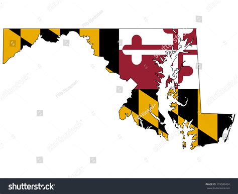 maryland map counties vector maryland vector map with the flag inside 119589424