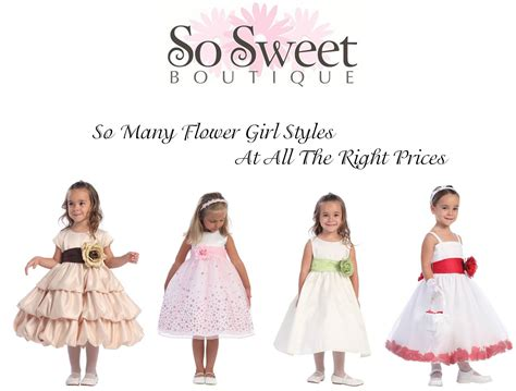 Flower Girl Dresses So Sweet Boutique   Wedding Dresses Asian