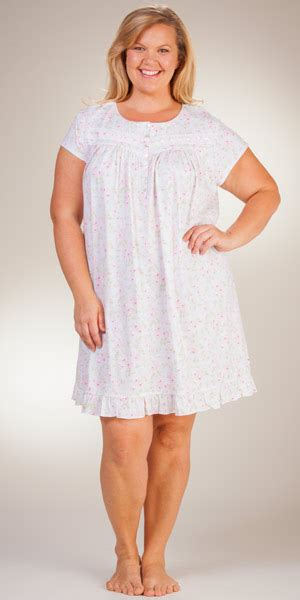 cotton knit nightgowns plus size serene comfort