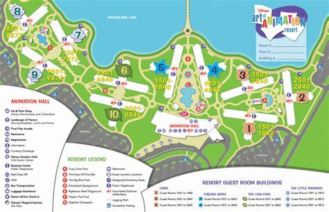 caribbean resort map pdf disney s of animation resort information questions